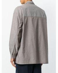 E. Tautz Gray Lineman Shirt for men