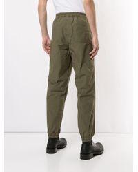 Kolor Green Elasticated Cargo Pants for men