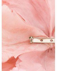 Ann Demeulemeester Pink Large Flower Brooch