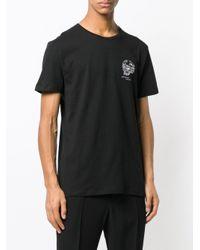 T-shirt à tête de mort brodée Alexander McQueen pour homme en coloris Black