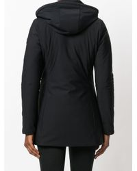 Save The Duck | Black Zipped Hooded Coat | Lyst