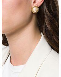 Givenchy Pre-Owned Metallic 1980's Greek Key Earrings
