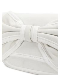 RED Valentino - White Bow Detailed Shoulder Bag - Lyst
