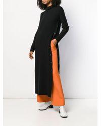 Marni Black Gestricktes Kleid mit Rollkragen