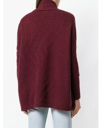 N.Peal Cashmere Red Cable-knit Cardigan