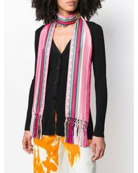 Loewe ストライプ スカーフ Multicolor