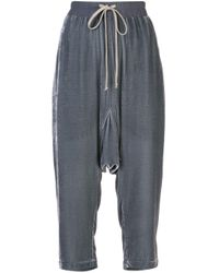 Rick Owens Blue Drop Crotch Sweatpants