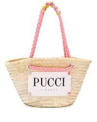 Emilio Pucci ロゴ バスケットバッグ Multicolor