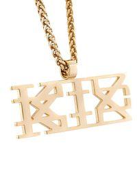 KTZ | Metallic Logo Chain Necklace for Men | Lyst