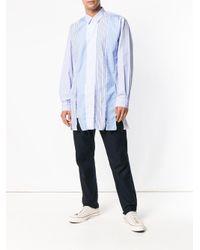 Comme des Garçons - Blue Patchwork Collared Shirt for Men - Lyst
