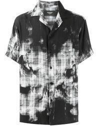 Camisa estampada de manga corta Represent de hombre de color Black