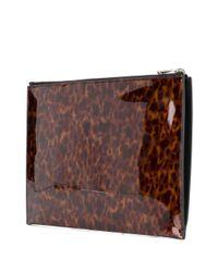 Клатч На Молнии Saint Laurent для него, цвет: Brown