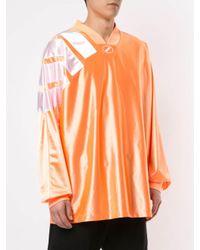 T-shirt oversize di we11done in Orange