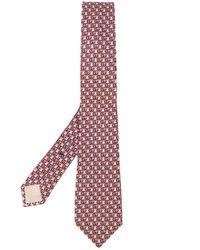 Cravate à motif GG Gucci pour homme en coloris Brown