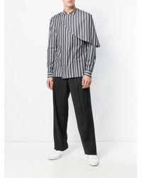 Chalayan Black Carrot Trousers for men
