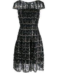 Vestito metallizzato Noix di Talbot Runhof in Black