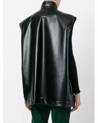 Marni Black Oversized Flap Detail Gilet