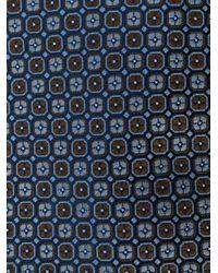Cravatta con motivo geometrico di Canali in Blue da Uomo