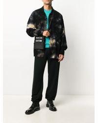 メンズ Versace Jeans ロゴ メッセンジャーバッグ Black