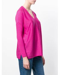 Snobby Sheep - Pink V-neck Sweater - Lyst