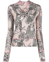 Adidas By Stella McCartney Pink Truepurpose Floral-print Top