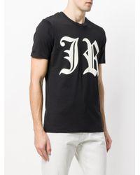 John Richmond - Black Logo Printed T-shirt for Men - Lyst