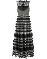 RED Valentino Black Guipure Lace Layer Dress