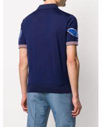 メンズ Prada フローラル ポロシャツ Blue