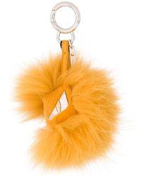 Fendi Yellow Bag Bugs Keychain