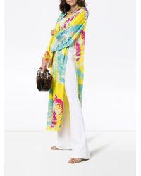 All Things Mochi Camila Side Split Kimono in het Yellow