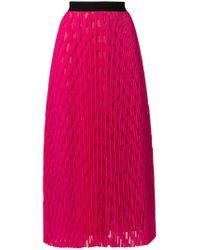 Vivetta Pink Pleated Midi Skirt