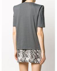 T-shirt con spalle imbottite Bella di The Attico in Gray