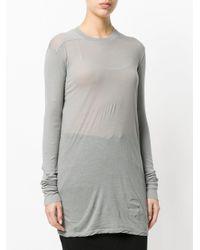 Rick Owens Drkshdw - Gray Long Length T-shirt - Lyst