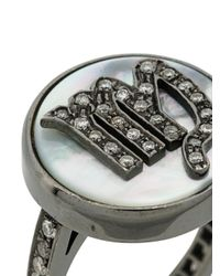 Carolina Bucci - Gray Diamond Set Zodiac Ring - Lyst