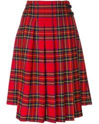 P.A.R.O.S.H. Red Lamix Skirt