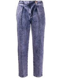 See By Chloé ストーンウォッシュ クロップドジーンズ Blue
