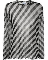 メンズ Sunnei ストライプ Tシャツ White
