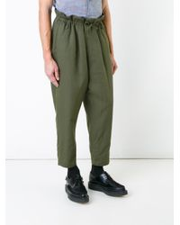 Haider Ackermann Green Drop Cropped Trousers for men