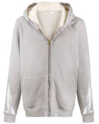 Sudadera con capucha y franjas metalizadas Zilver de color Gray