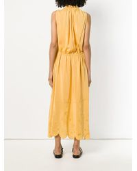 See By Chloé Yellow Embroidered Hem Maxi Dress