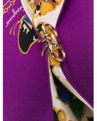 Ferragamo フローラル スカーフ Purple