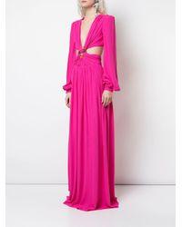 Abito da sera con dettaglio cut-out di PATBO in Pink