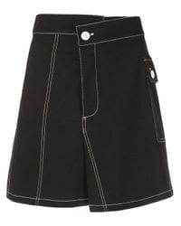 PROENZA SCHOULER WHITE LABEL コットンツイル スカート Black
