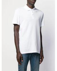 メンズ Versace Jeans プリント ポロシャツ White