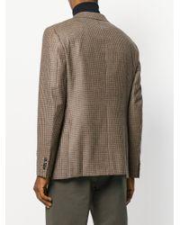 Boglioli Natural Houndstooth Pattern Blazer for men