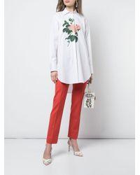 Pantalon slim classique Oscar de la Renta en coloris Red