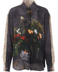 Burberry フローラル シルクシャツ Multicolor