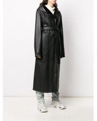 Liska パネル コート Black
