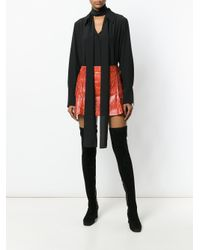 Chloé - Orange Python-print Leather Mini Skirt - Lyst