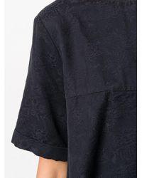 YMC フローラル エンパイアライン ドレス Blue
